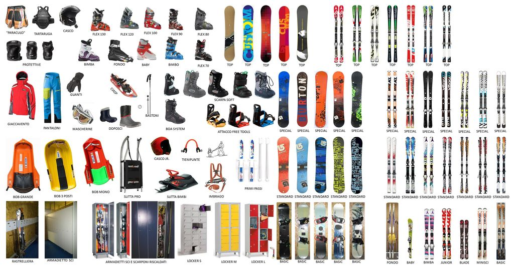Service storage and Ski rental and Snowboard services